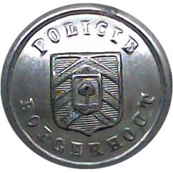 British South Africa Police 15.5mm King's Crown. Brass Police or Prisons uniform button