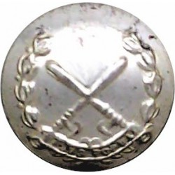 British Colonial Police - Crossed Truncheons 13.5mm - No Crown  Silver-plated Police or Prisons uniform button