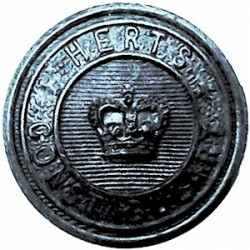 West Suffolk Constabulary 24.5mm - 1952-1967 with Queen Elizabeth's Crown. Chrome-plated Police or Prisons uniform button