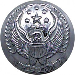 Abu Dhabi Police (Hawk With Stars) 23mm  Chrome-plated Police or Prisons uniform button