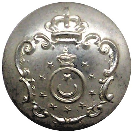 Mid-Wales Constabulary 17.5mm - 1952-1968 with Queen Elizabeth's Crown. Chrome-plated Police or Prisons uniform button