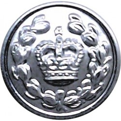 Stoke On Trent City Police 17.5mm - 1952-1967 with Queen Elizabeth's Crown. Chrome-plated Police or Prisons uniform button