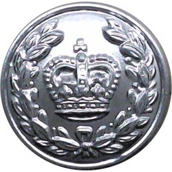 Kingston-Upon-Hull City Police (Crown Centre) 17.5mm - 1952-1974 with Queen Elizabeth's Crown. Chrome-plated Police or Prisons u