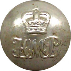 Dyfed-Powys Constabulary 17mm - 1968-1974 with Queen Elizabeth's Crown. Chrome-plated Police or Prisons uniform button