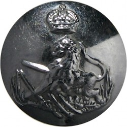 British South Africa Police 15.5mm with King's Crown. Chrome-plated Police or Prisons uniform button