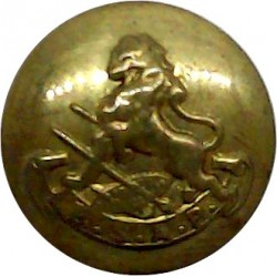 British South Africa Police (BSAP Scroll) 15.5mm - No Crown  Brass Police or Prisons uniform button