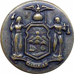 Polis Di Raja Malaysia 19.5mm Chrome-plated Police or Prisons uniform button