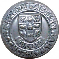 Auxiliary Fire Service (AFS) Button 24.5mm - 1938-1941  White Metal Fire Service uniform button
