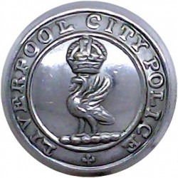 National Fire Service (NFS) Button 17mm - 1941-1948 Chrome-plated Fire Service uniform button