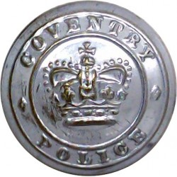 Kent Fire Brigade - With Rim 24.5mm - Pre-1974 Chrome-plated Fire Service uniform button