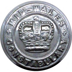 Warwick County Fire Brigade 24mm  Chrome-plated Fire Service uniform button
