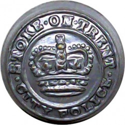 Warwick County Fire Brigade 17.5mm Chrome-plated Fire Service uniform button