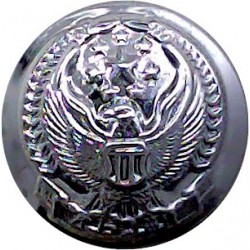 Abu Dhabi Police (Hawk With Stars) 17.5mm  Chrome-plated Police or Prisons uniform button