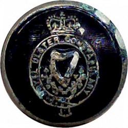 Lancashire County Fire Brigade 24mm - Post-1948  Chrome-plated Fire Service uniform button