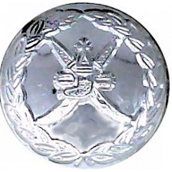 Bristol Fire Brigade 24.5mm Chrome-plated Fire Service uniform button
