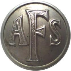 Auxiliary Fire Service (AFS) Button 24.5mm - 1938-1941  White Metal Fire Service uniform button
