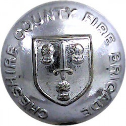 County Borough Of Wallasey Fire Brigade 24mm - 1947-1974  Chrome-plated Fire Service uniform button