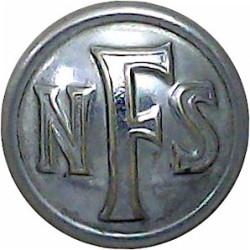 National Fire Service (NFS) Button 17mm - 1941-1948  Chrome-plated Fire Service uniform button
