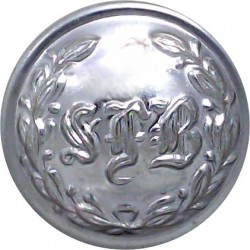 Lindsey Fire Brigade (Lincolnshire) 24mm - 1948-1974 Chrome-plated Fire Service uniform button