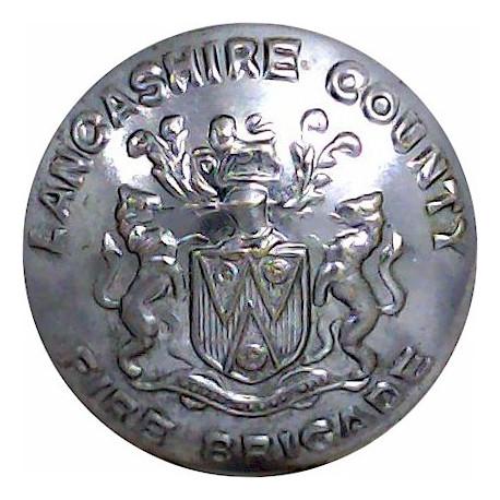 Lancashire County Fire Brigade 24mm - Post-1948  Chrome-plated Fire Service uniform button
