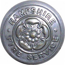 City Of Liverpool Fire Brigade 24mm - 1948-1974 Chrome-plated Fire Service uniform button