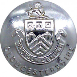 British Fire Services Association 26mm  Chrome-plated Fire Service uniform button