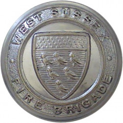 Hampshire Fire Service (Rose Centre) 16.5mm - 1947-1974 Chrome-plated Fire Service uniform button