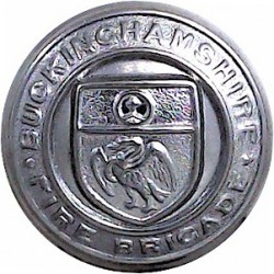 Buckinghamshire Fire Brigade (with Lettering) 24.5mm  Chrome-plated Fire Service uniform button