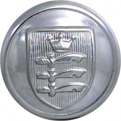 North Riding Of Yorkshire County Fire Brigade 24mm - Post 1948 Chrome-plated Fire Service uniform button
