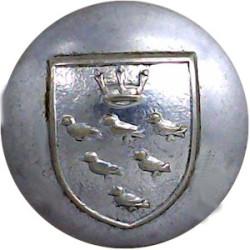 Shropshire Fire Brigade 16.5mm - Post 1948 Chrome-plated Fire Service uniform button