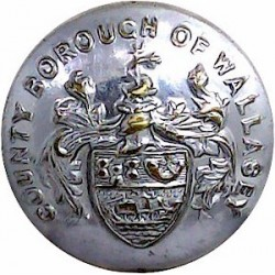 Brighton Fire Brigade 16.5mm - Post1948 Chrome-plated Fire Service uniform button