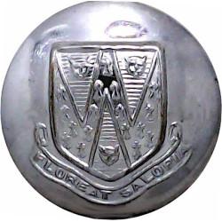 National Fire Service (NFS) Button 24.5mm - 1941-1948  White Metal Fire Service uniform button