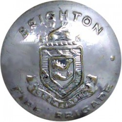 Brighton Fire Brigade 24mm - Post-1948  Chrome-plated Fire Service uniform button