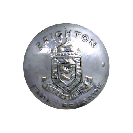 Glamorganshire Fire Brigade 24mm - 1948-1974  Chrome-plated Fire Service uniform button