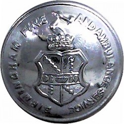 Birmingham Fire & Ambulance Service - With Lettering 24mm - Post 1948  Chrome-plated Fire Service uniform button