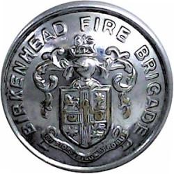 Birkenhead Fire Brigade 24mm  Chrome-plated Fire Service uniform button