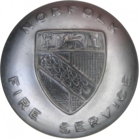 Cambridge And Isle Of Ely Fire Brigade 16.5mm - 1965-1974 Chrome-plated Fire Service uniform button