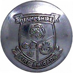 Huntingdon County Fire Service 24mm - 1974-1996 Chrome-plated Fire Service uniform button