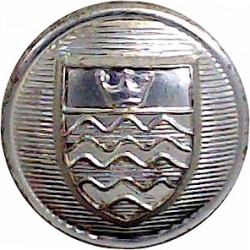 Nottinghamshire Fire Service (Coat Of Arms Centre) 24mm - 1948-1974 Chrome-plated Fire Service uniform button
