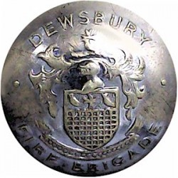 Lindsey Fire Brigade (Lincolnshire) 16.5mm - Post 1948 Chrome-plated Fire Service uniform button