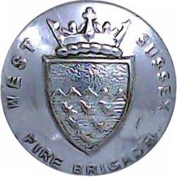 Flintshire Fire Brigade 16.5mm - 1962-1974 Chrome-plated Fire Service uniform button