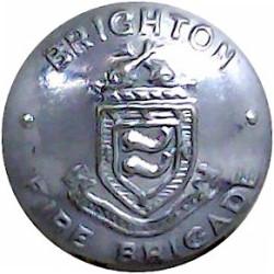 Brighton Fire Brigade 16.5mm - Post1948  Chrome-plated Fire Service uniform button