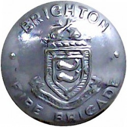 Ministry Of Defence Fire Service - EiiR 25.5mm with Queen Elizabeth's Crown. Chrome-plated Fire Service uniform button