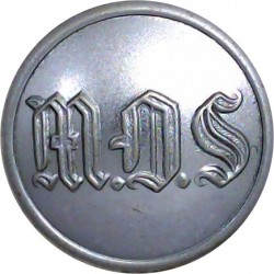 Portsmouth City Fire Brigade (No Lettering) 16.5mm - 1948-1974  Chrome-plated Fire Service uniform button