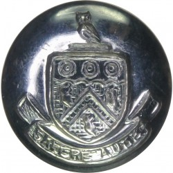 Hampshire Fire Brigade (Shield Centre) - Unlined 24mm - Post-1974  Chrome-plated Fire Service uniform button