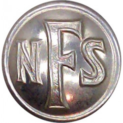 City Of Liverpool Fire Service 24mm - 1948-1974 Chrome-plated Fire Service uniform button