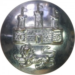 Dewsbury Fire Brigade 16.5mm - Post-1948 Chrome-plated Fire Service uniform button