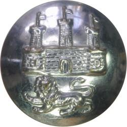 Dewsbury Fire Brigade 16.5mm - Post-1948  Chrome-plated Fire Service uniform button