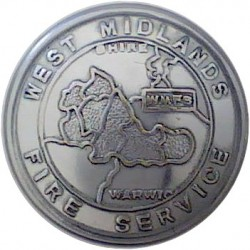 Leicestershire Fire Service - LFS 16.5mm  Chrome-plated Fire Service uniform button