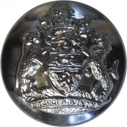 Stoke-On-Trent City Fire Brigade 24mm Chrome-plated Fire Service uniform button